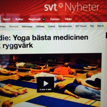 Medicinsk Yoga i SVT Rapport